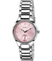 Precious 32mm Silver Ladies Watch with Pink Dial