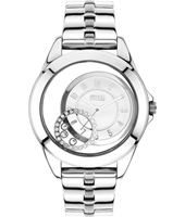47219-W Crystaco 39mm Ladies Quartz watch with floating Crystals