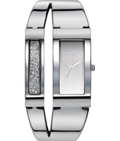 47162-S Duelle 34mm Rectangular Bangle Watch with loose Crystals