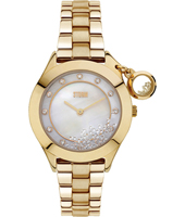 47222-GD Sparkelli 34mm Ladies Quartz Watch with loose Crystals