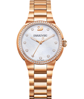 City Mini 31mm Rose gold watch with crystals