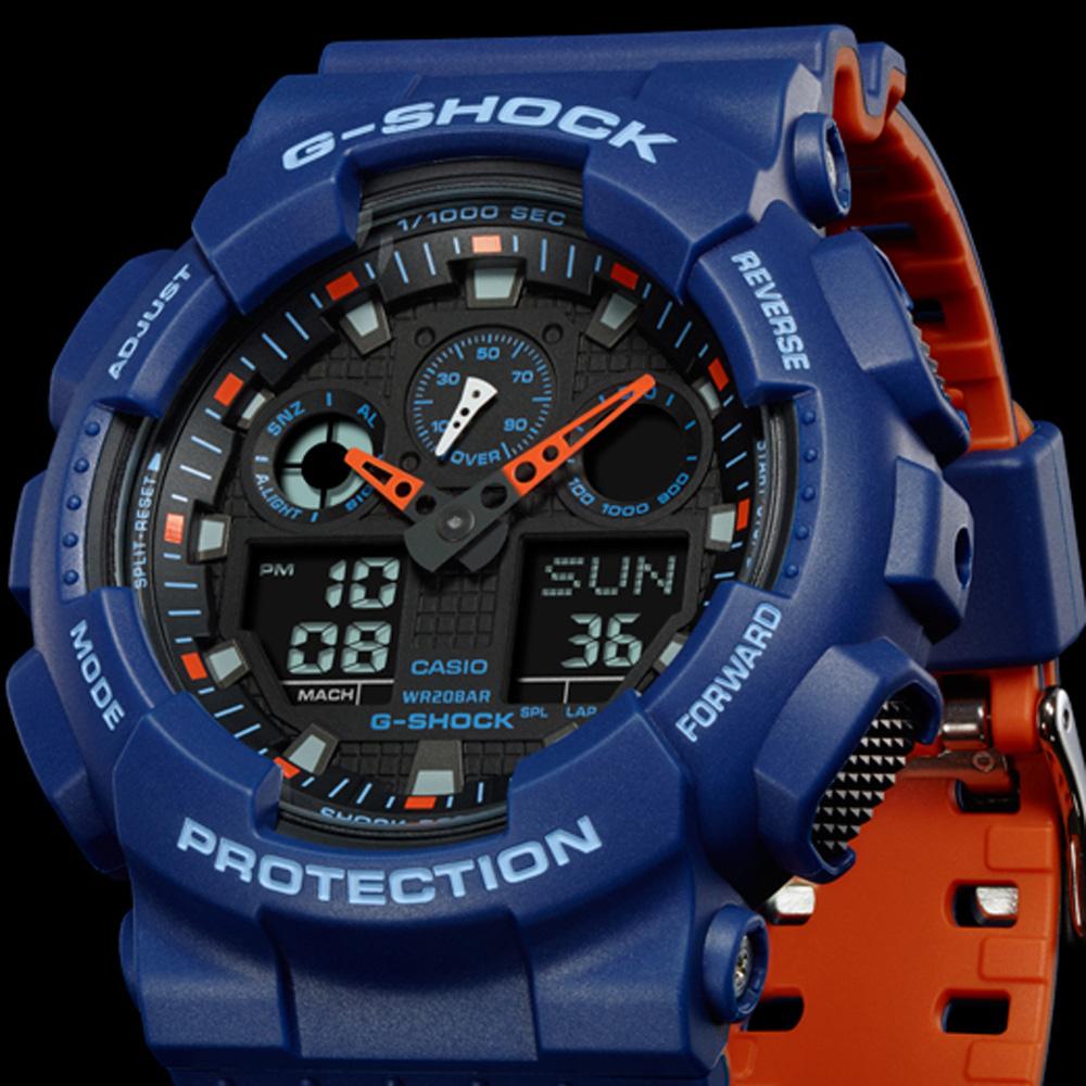 6834e49e41ce9e G-Shock Classic Style GA-100L-2AER Layered Color Zegarek • EAN ...