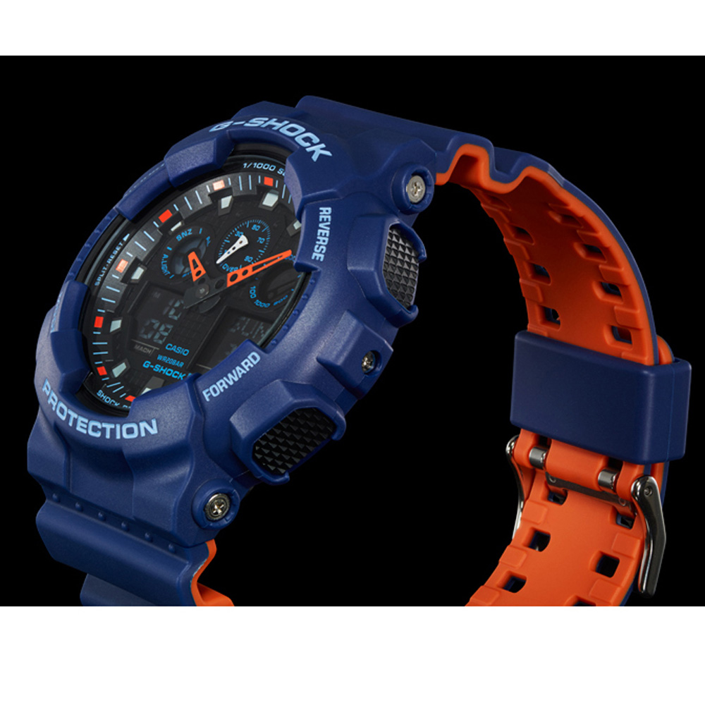 d871496075b0a6 Duży niebieski analogowo-cyfrowy zegarek G-Shock Kolekcja jesienno-zimowa G- Shock